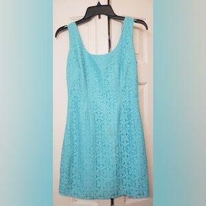 Lilly Pulitzer  Aqua Sleeveless Lace Dress0